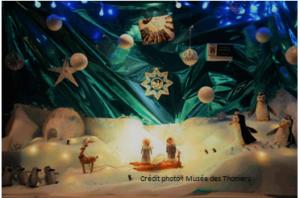 La crèche de Noel sur la banquise
